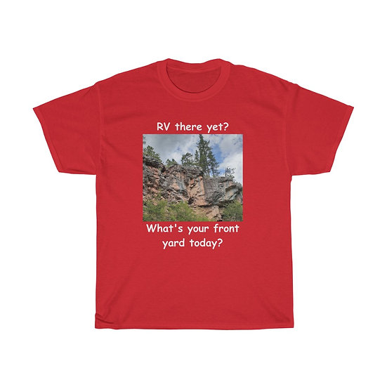Front Yard Canyons Trail, Unisex Heavy Cotton Tee