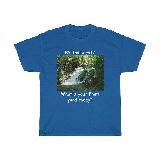 Front Yard Waterfall, Unisex Heavy Cotton Tee