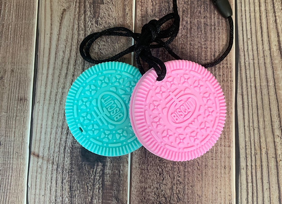 Oreo Style Biscuit Silicone Chew Necklace