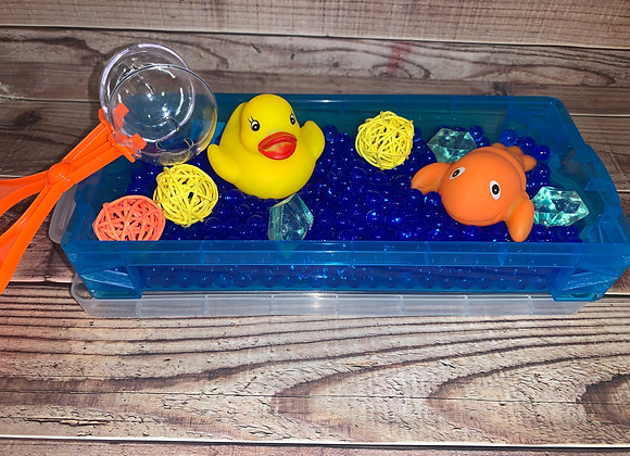Travel Duck Sensory Bin with water beads