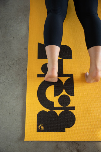 Yellow with black exercise mat-2.jpg