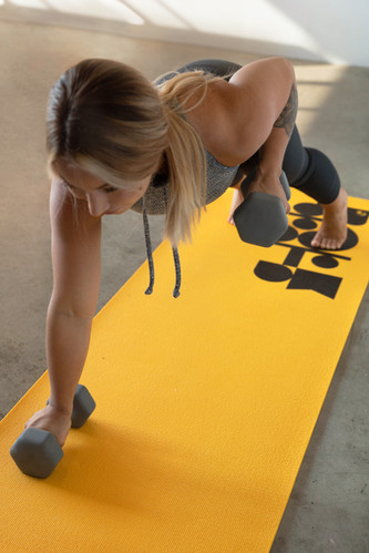 Yellow with black exercise mat-3.jpg