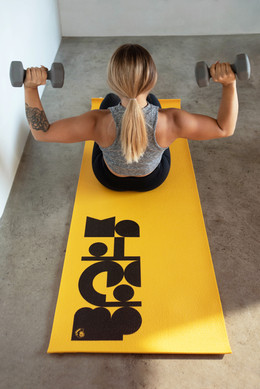 Yellow with black exercise mat-1.jpg