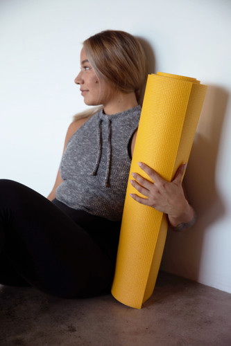 Yellow with black exercise mat-4.jpg