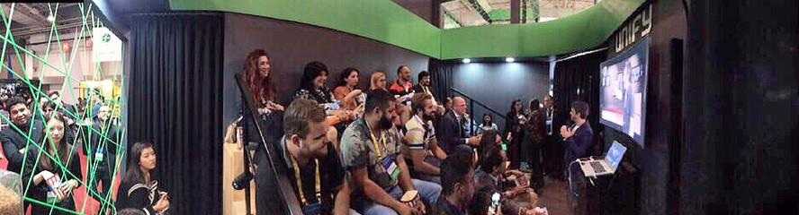 Stand Up para evento corporativo feira Futurecom para Unify no Transamerica Expo Center