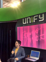 Stand Up para evento corporativo feira Futurecom para Unify no Transamerica Expo Center