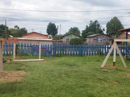 Prefeitura constrói Parque Infantil no Pré-escolar A Caminho do Saber no bairro Constantino Melo