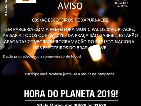 Prefeitura adota campanha Hora do Planeta 2019!