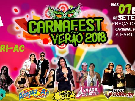 Carnaval fora de época agitará Xapuri nos próximos dias 07 e 08 de setembro. Venha se divertir !