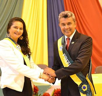 Prefeito Bira e Vice-Prefeita Maria Auxiladora