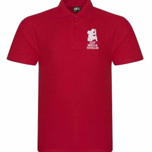 East Durham Veterans Red Polo Shirt