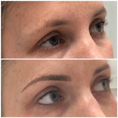 Permanent Eyebrows, Eyeliner Top & Bottom