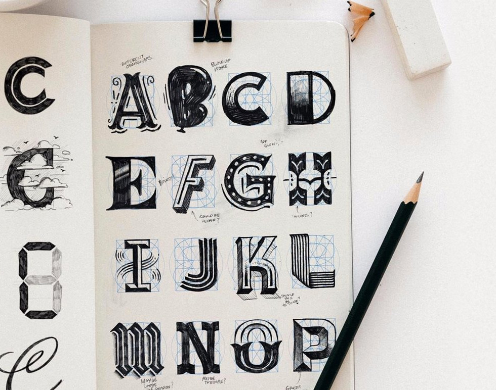 Letter sketching