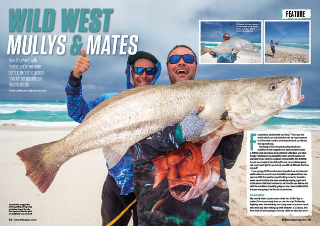 MULLOWAY FEATURE FISHING SA MAGAINE