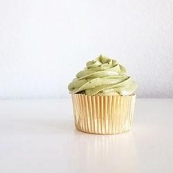 Delicous matcha and vanilla cupcake