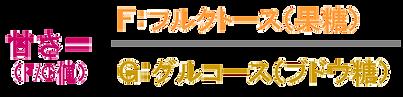はちみつの甘さF/G値
