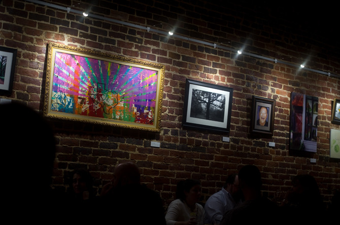 Many thanks to The Liberty Bell in Nacogdoches, TX for hanging two of my art pieces on their brick w