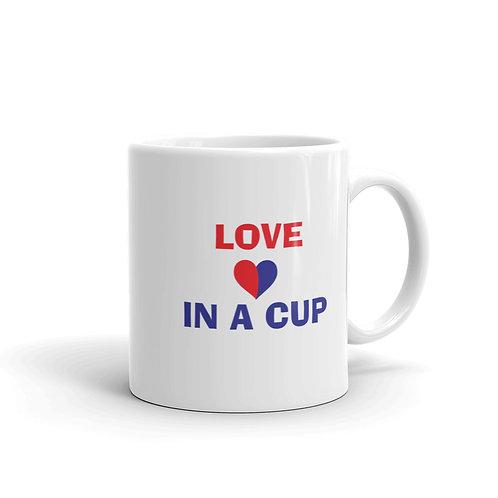 Love in a Cup Heart Mug