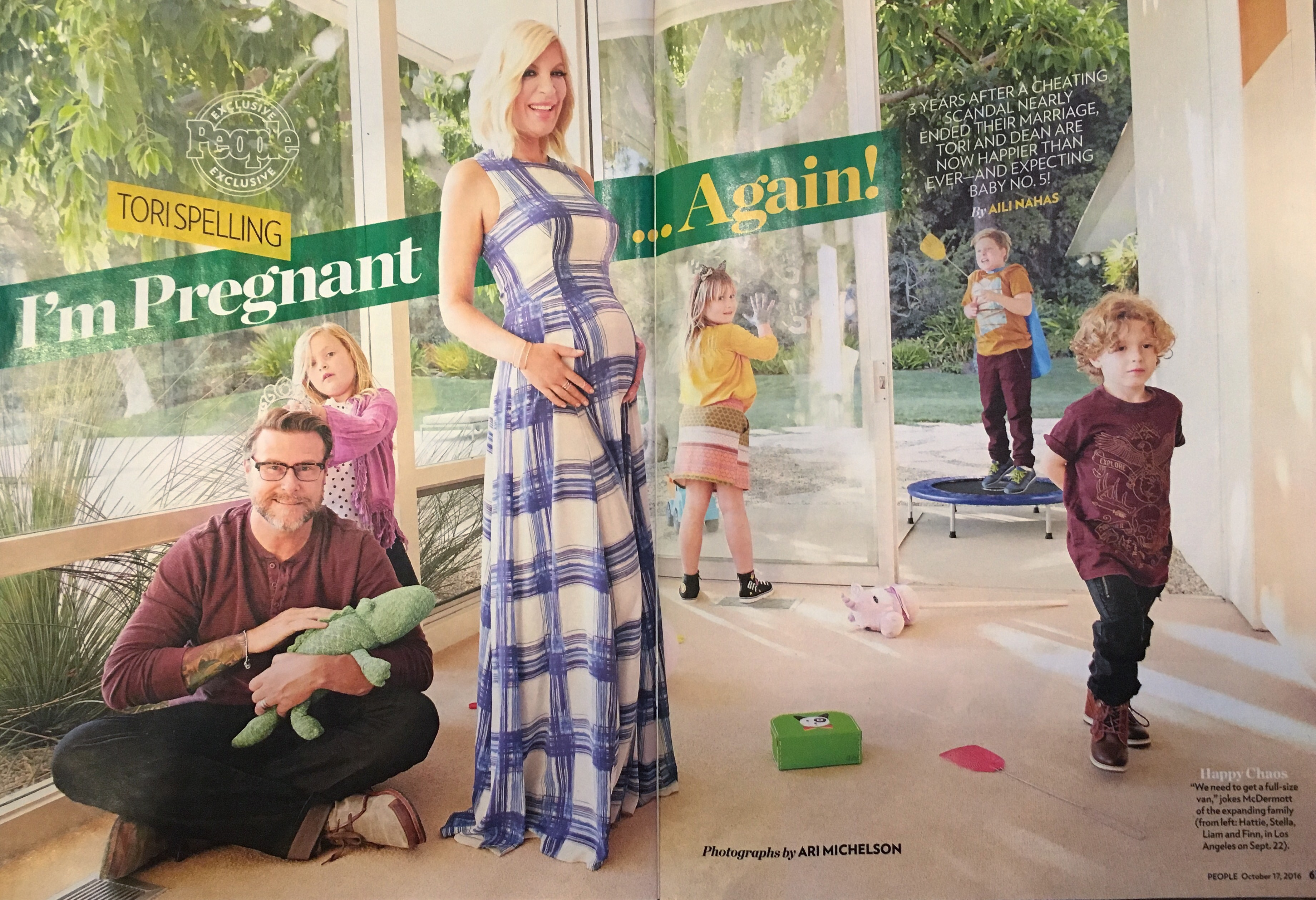 Tori Spelling in People Magazine
