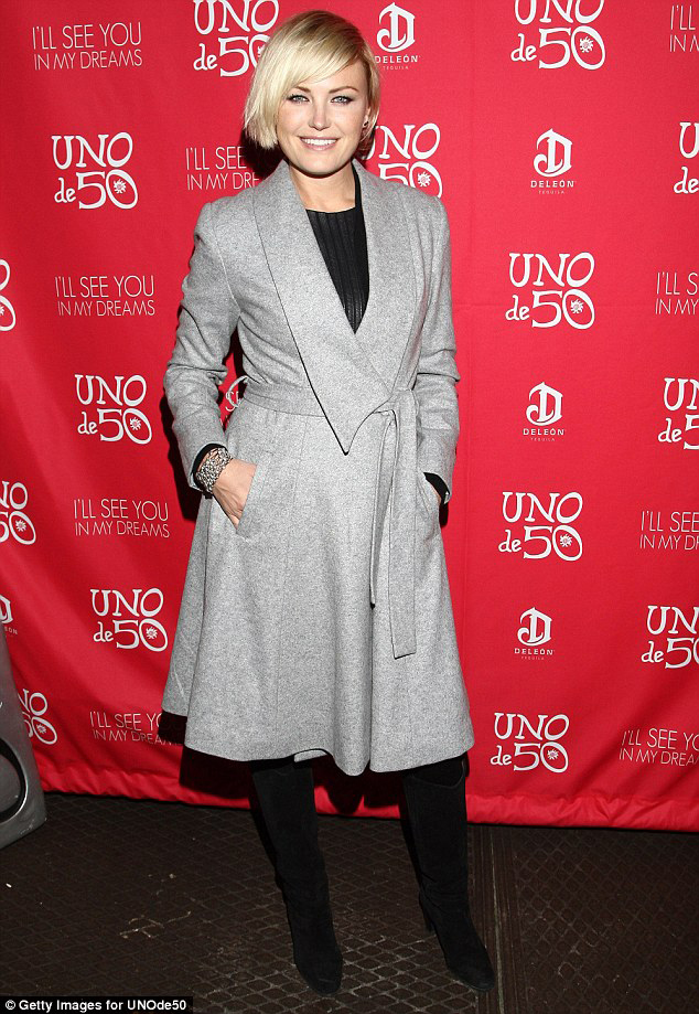 Malin Akerman in Fall 14 Wrap Coat