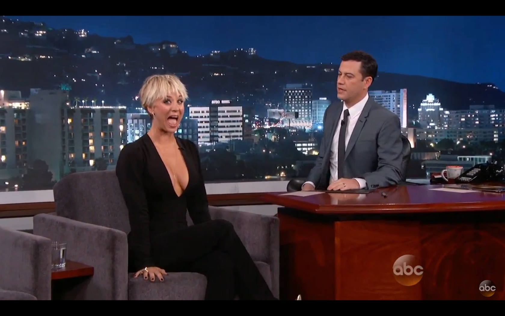 Kaley Cuoco on Jimmy Kimmel