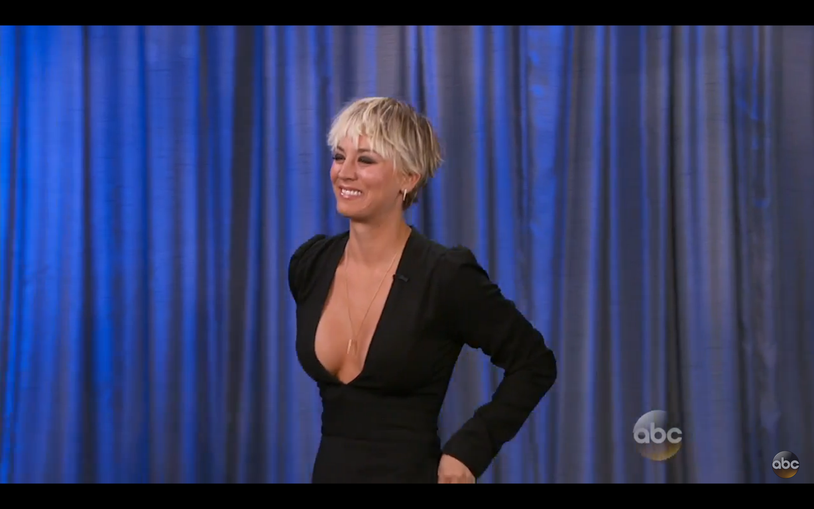 Kaley Cuoco in Fall 14 Jumpsuit