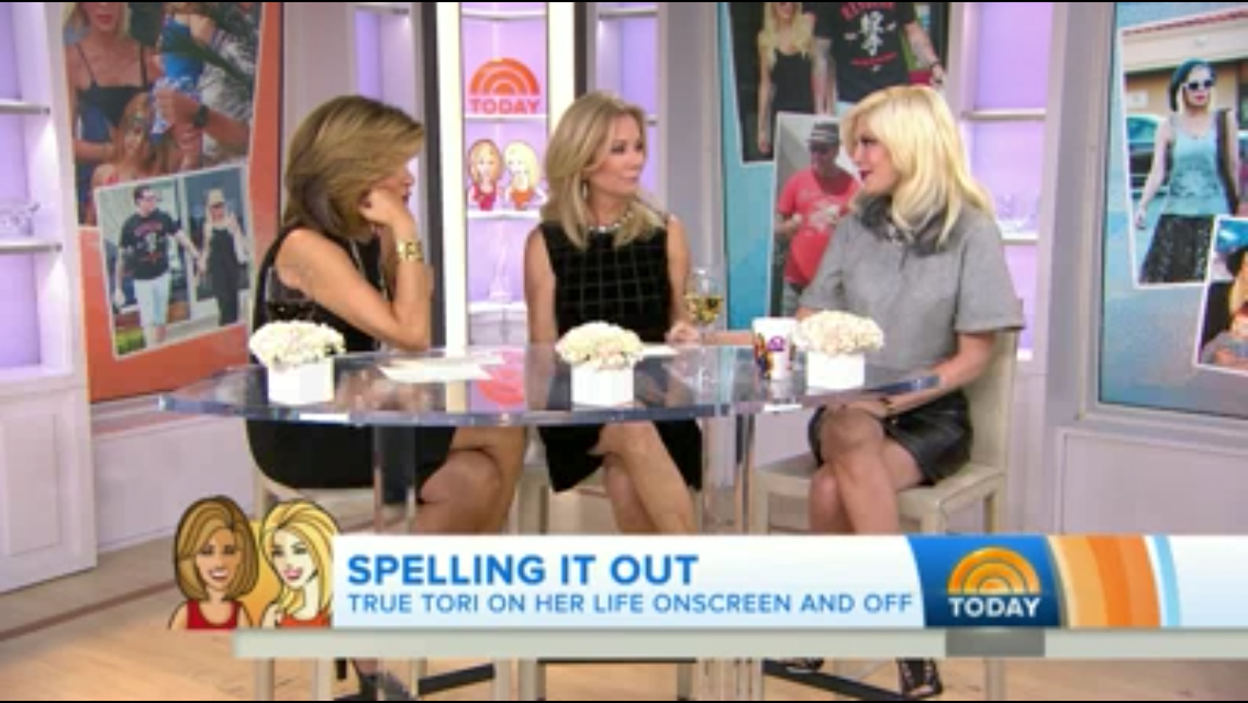 Tori Spelling on Today Show