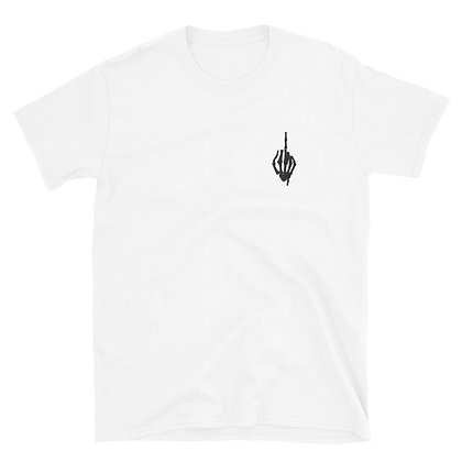Skeleton Middle Finger White T-Shirt