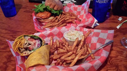Sandwich and a Wrap at Crabshack