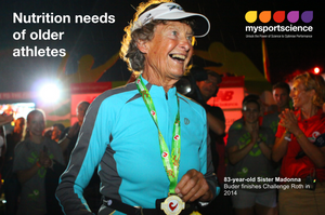 Sister Madonna Buder finishes a long distance triathlon at the age of 83