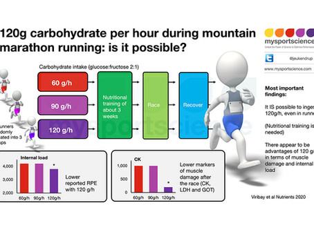120 grams of carbohydrate per hour in mountain marathon runners