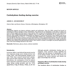 Carbohydrate during exercise