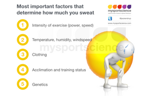 Determinants of sweat rate