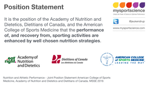 position statement ACSM Sports Nutrition