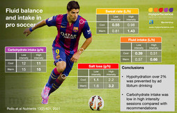 Fluid balance and intake in professional soccer players