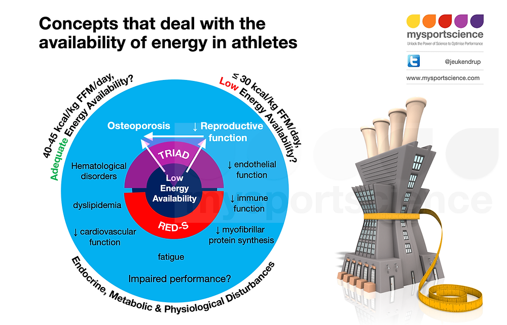Concepts that deal with the availability of energy in athletes