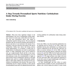 Personalized sports nutrition