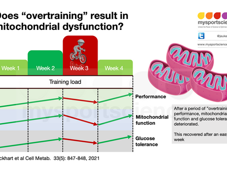 Does overtraining  reduce mitochondrial function and glucose tolerance?