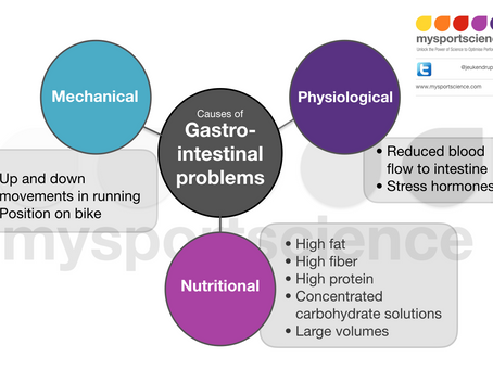 Cause of gastro-intestinal problems in athletes