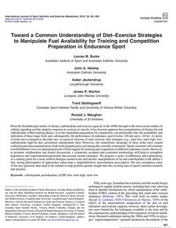 Toward a common understanding of diet–exercise strategies