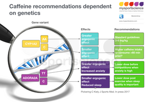 caffeine recommendations dependents on genetics?