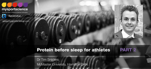 Protein and sleep Sport nutrition exercise science