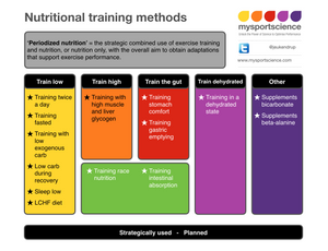 Periodized nutrition and nutritional training methods