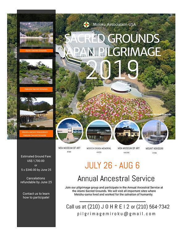 Pilgrimage to Japan Sacred Grounds 2019-