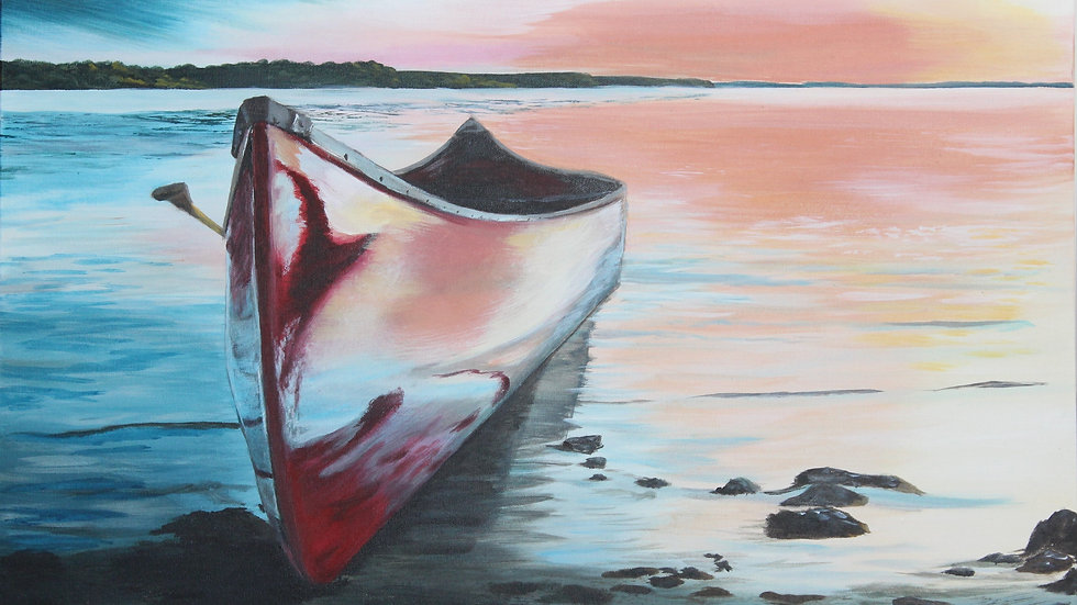 Les réflections vécu en canoe