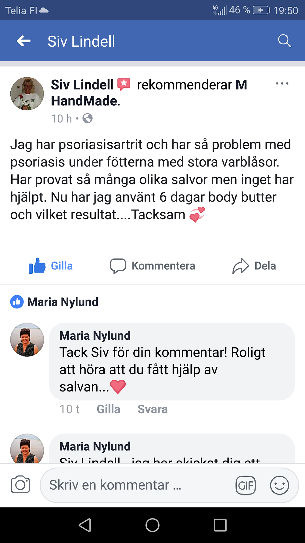 Recension på FB