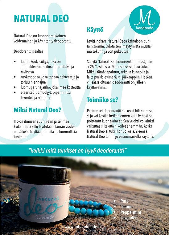 Natural Deo alumiiniton deodorantti