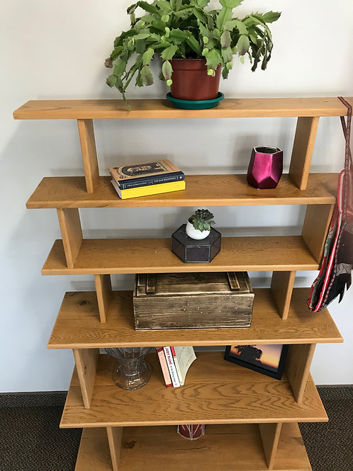 Wooden Tiered Bookshelf