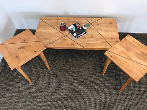 Knotty Alder w/Inlay Coffee Table & End Table Set