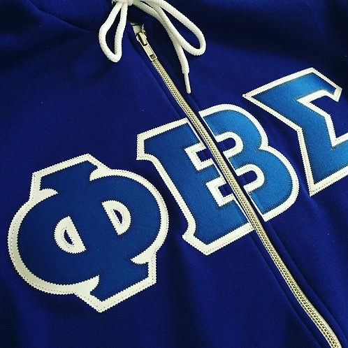 Phi Beta Sigma Full Zip Fleece Hoody